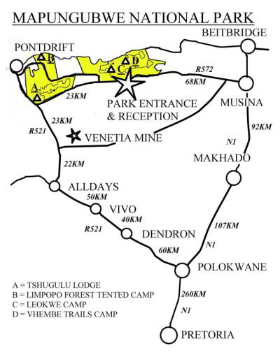 Mapungubwe National Park Road Map