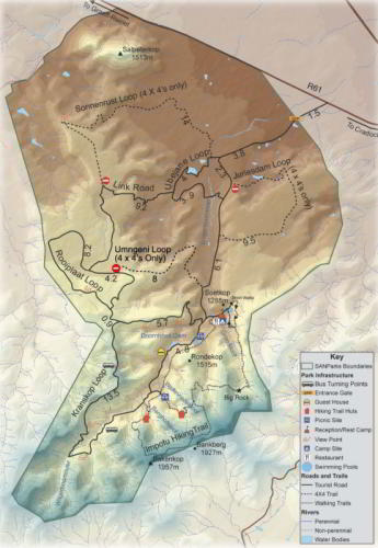 Mountain Zebra National Park Map