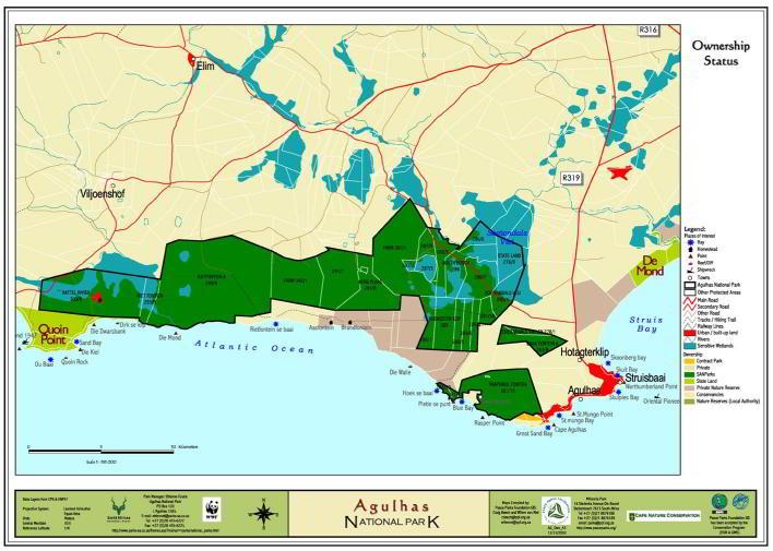 agulhas national park map