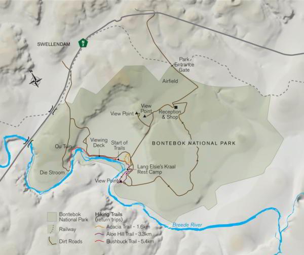 Bontebok National  Park Map